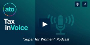 TaxInvoice podcast episode on Super for Women