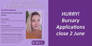 Bursary applications close 2 June