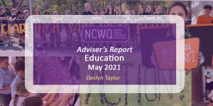NCWQ Education Report May 2021