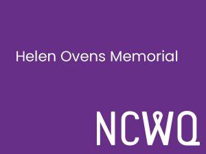 NCWQ Helen Ovens Memorial Bursary