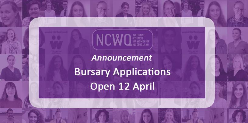 Applications for the NCWQ Bursary Program open on Monday 12 April 2021.