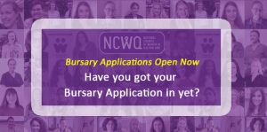 Bursary applications are coming in