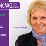 NCWQ congratulates Kathy Cavanagh on her award