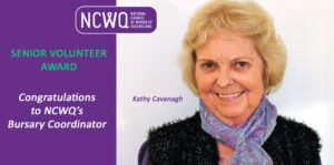 NCWQ congratulates Kathy Cavanagh on her award