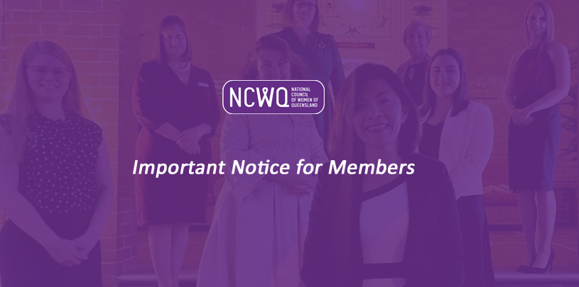 Important Notice for Members