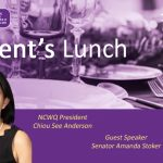 Invitation to attend the NCWQ President's Lunch 10 November 2021