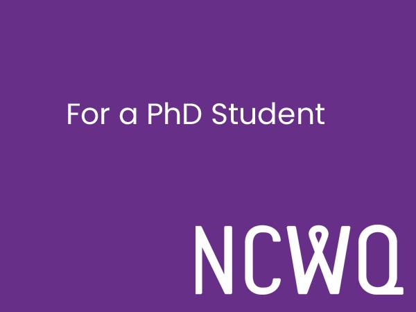NCWQ Bursary for a PhD Student