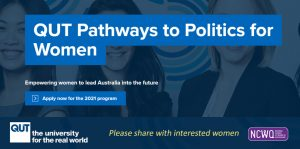 QUT Pathways to Politics for Women program